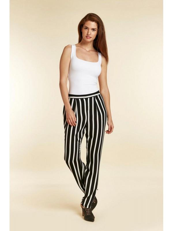 TALL black striped slim pants
