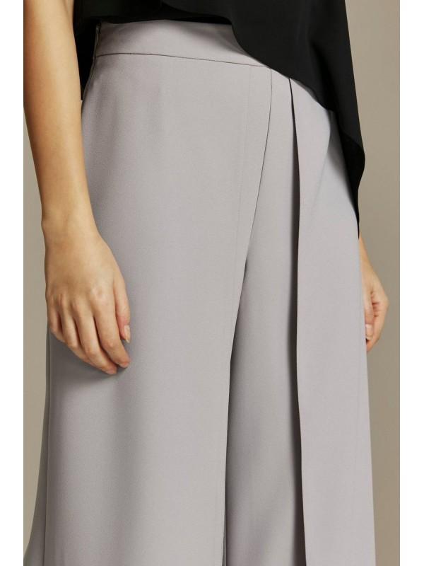 PETITE grey wide-legged pullovers