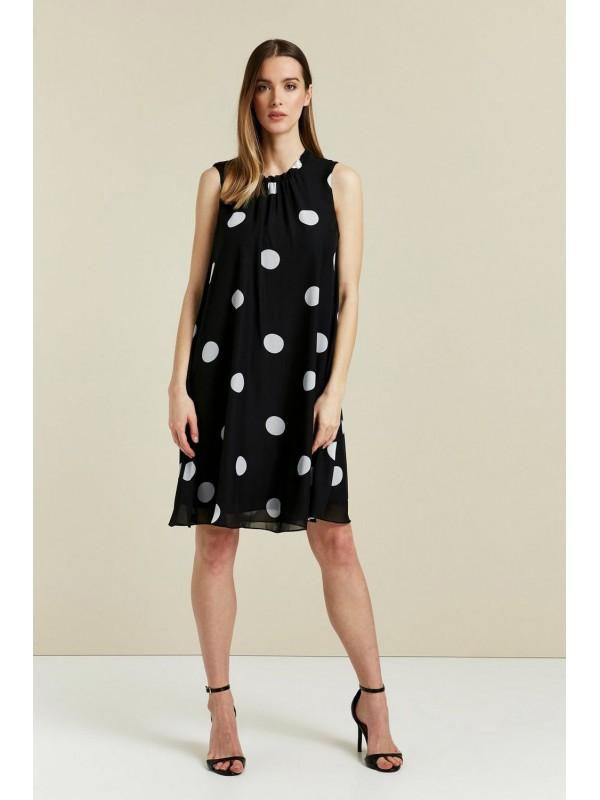 Black wavy dot skirt