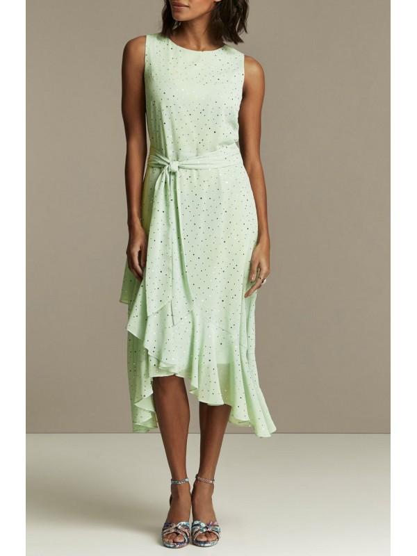Tiered dresses of mint glitter