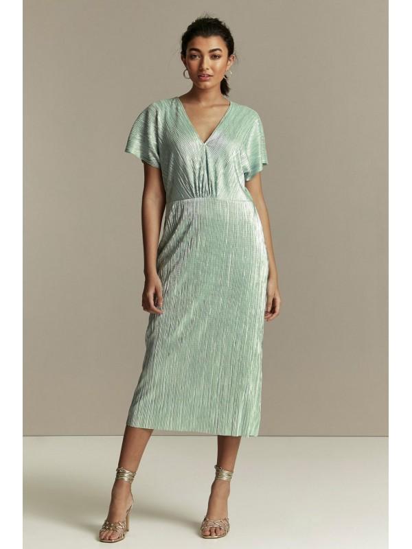 Peppermint metallic dress