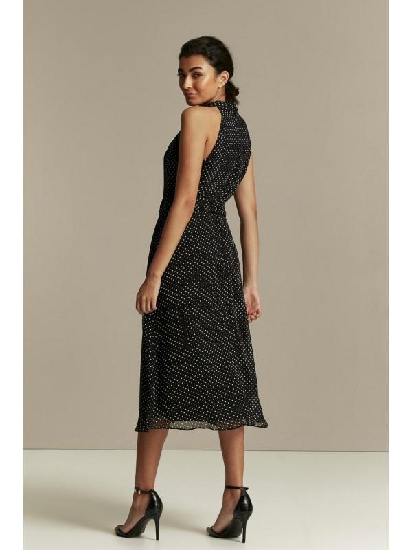 Black dot print dress