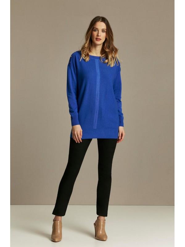 Blue polka dot sweater