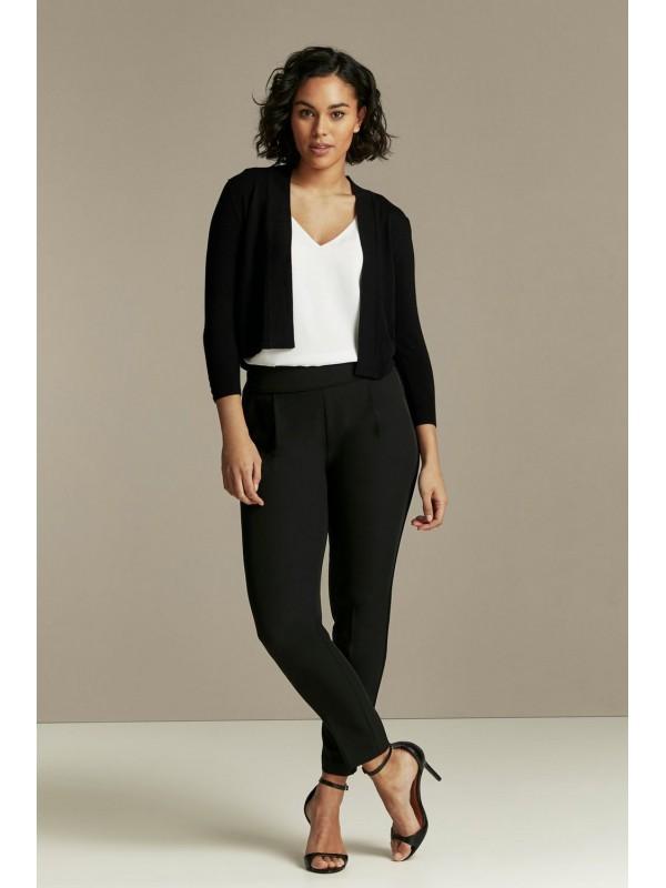 Black short sleeve shirt cardigan