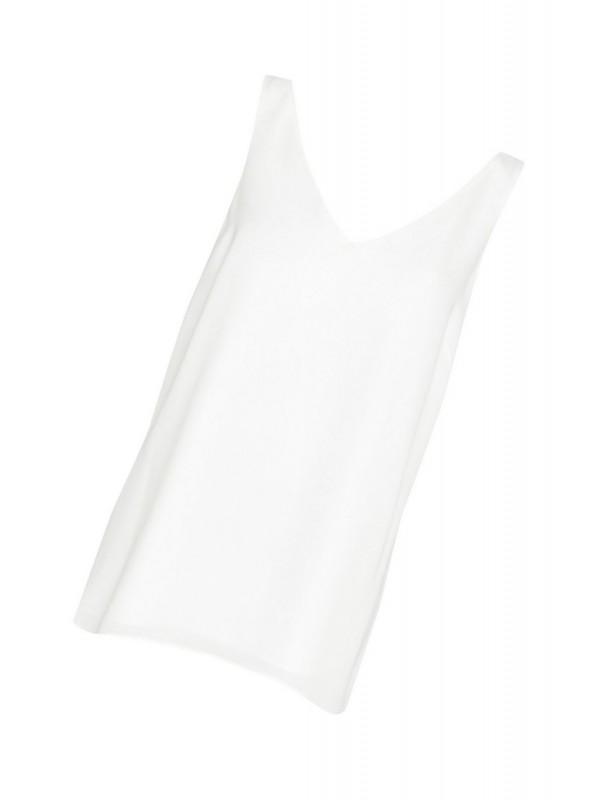 Ivory V-neck halter top
