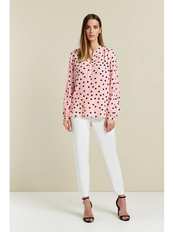 red dot print shirt