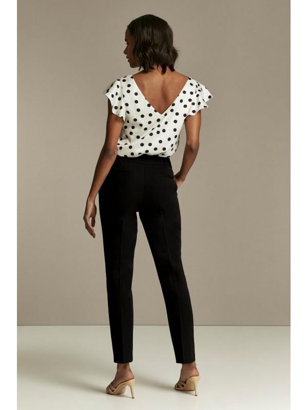 Black rivet detail tapered trousers