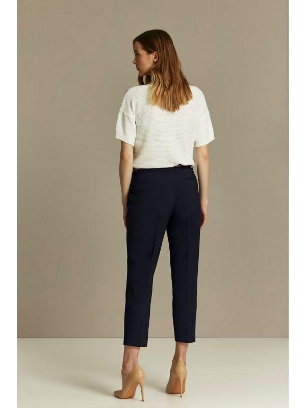 Navy blue belt pouch pants