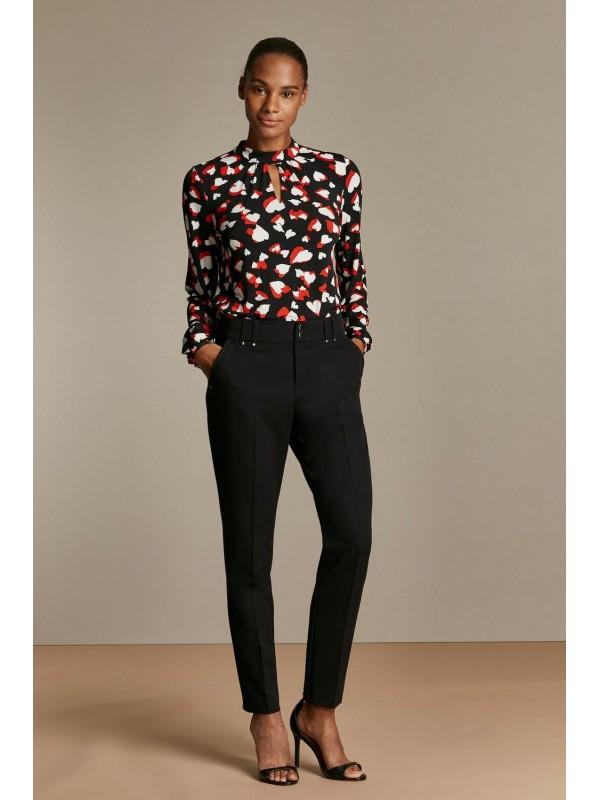 Black cut trousers